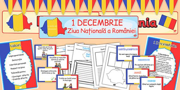 Ziua Nationala a Romaniei, Pachet cu materiale - fise si décor