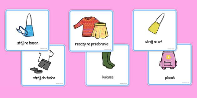 Karty Rzeczy do zapamiętania (dziewczynka) po polsku - czynności