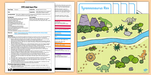 EYFS Dinosaur Bee-Bot Activity Adult Input Plan and Resource Pack