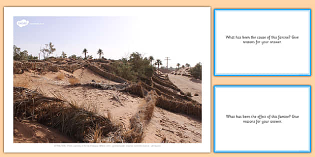 Famine Today Photo Pack with Prompt Card Questions - Famine, Today, Modern, Photographs, images, questions