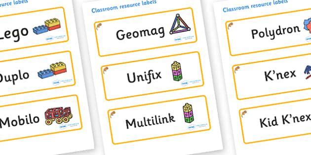 Dormouse Themed Editable Construction Area Resource Labels - Themed Construction resource labels, Label template, Resource Label, Name Labels, Editable Labels, Drawer Labels, KS1 Labels, Foundation Labels, Foundation Stage Labels
