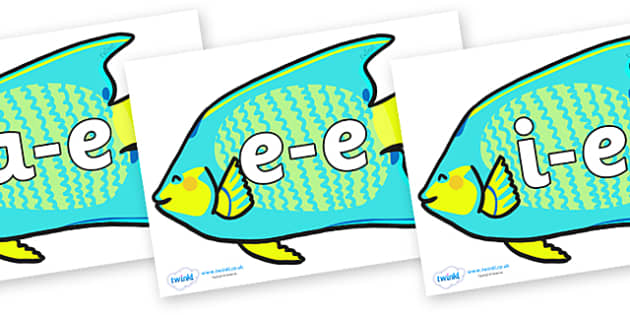 Modifying E Letters on Angel Fish - Modifying E, letters, modify, Phase 5, Phase five, alternative spellings for phonemes, DfES letters and Sounds