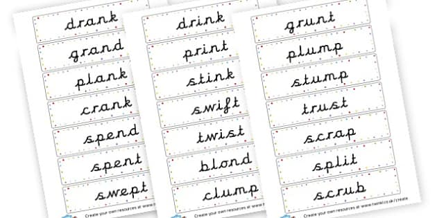 Unit 10 cvcc words - CVC Words Flashcards and Visual Aids Primary Resources -  Primary