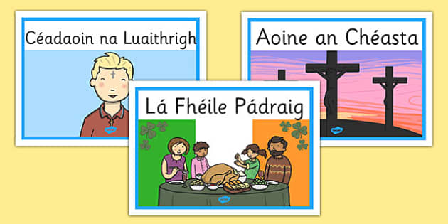 Gaeilge Festivals and Special Days Display Posters - gaeilge, festivals, special days, display posters, display, posters