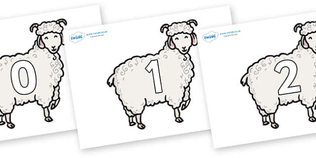Numbers 0-100 on Small Billy Goats - 0-100, foundation stage numeracy, Number recognition, Number flashcards, counting, number frieze, Display numbers, number posters
