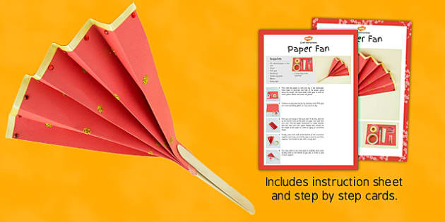 Make Your Own Paper Fan Craft Instructions - fan, craft, instructions, paper, stick