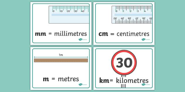 Length Abbreviation Display Posters - length abbreviation, display, poster, sign, length, abbreviation, metres, kilometres, m, km, centimetres, cm, millimetres, mm