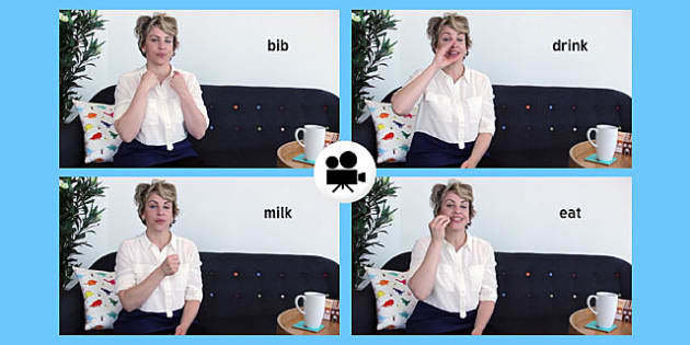 British Sign Language: Baby Sign Mealtime Signs Video Clip - british sign language, baby signs, video clip, mealtime signs