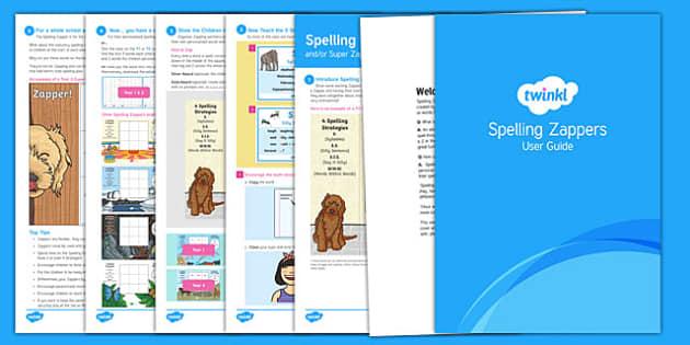 Zappers User Guide - spelling zapper, spell, spelling, zapper, dyslexic, dyslexia, learn, tricky words, personalise, words, year 3, user, guide