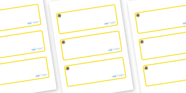 Sunflower Themed Editable Drawer-Peg-Name Labels (Blank) - Themed Classroom Label Templates, Resource Labels, Name Labels, Editable Labels, Drawer Labels, Coat Peg Labels, Peg Label, KS1 Labels, Foundation Labels, Foundation Stage Labels, Teaching La