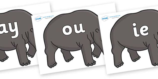 Phase 5 Phonemes on Hippos - Phonemes, phoneme, Phase 5, Phase five, Foundation, Literacy, Letters and Sounds, DfES, display