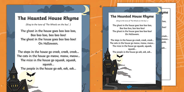 The Haunted House Rhyme - haunted house, rhyme, halloween, hallowe'en, festival, celebration