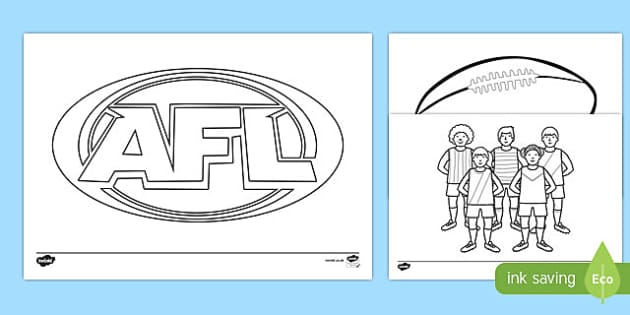 AFL Australian Football League Colouring Pages - colour in, AFL