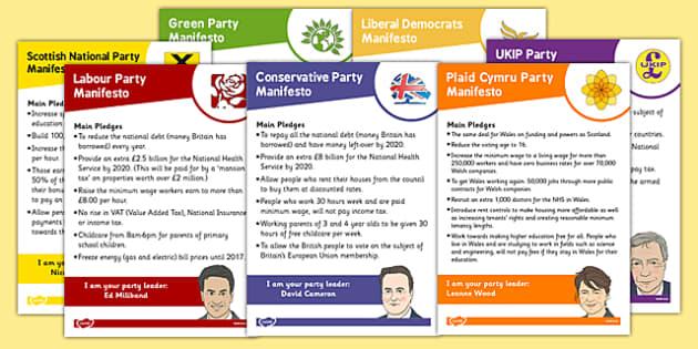 2015 General Election Party Manifestos (Child Friendly) - 2015