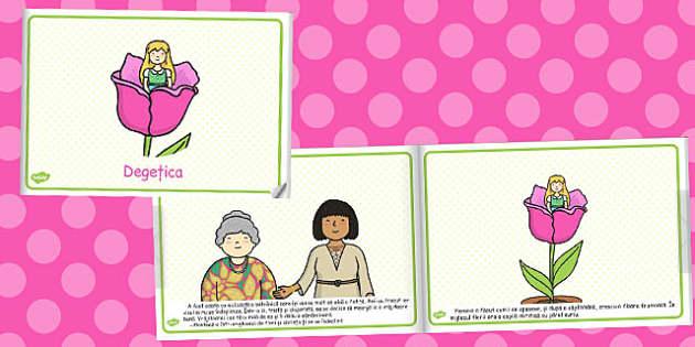 Degetica, poveste ilustrata, lectura, rezumat, carte electronica, Romanian