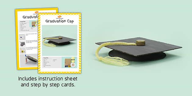 Graduation Cap Craft Instructions - graduation cap, craft, instructions
