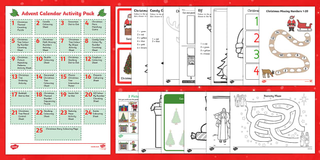Advent Calendar Activity Pack