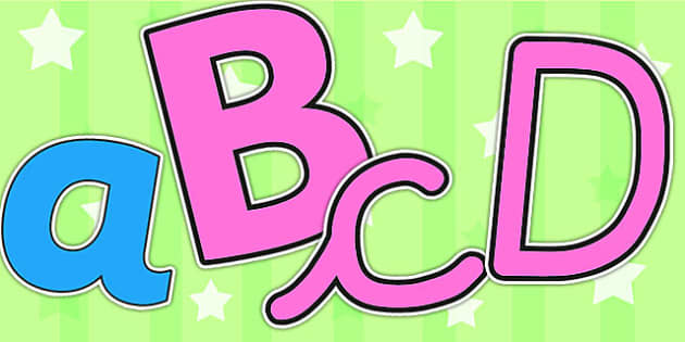 Consonant Vowel Colour Coded Pink and Blue Display Lettering