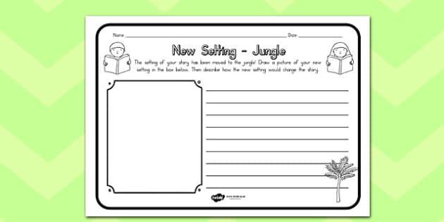 New Setting Jungle Comprehension Worksheet - australia, jungle