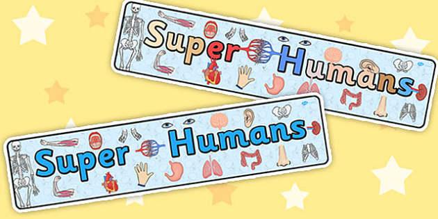 Super Humans Display Banner - bodies, header, display