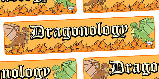 Dragonology Display Banner - dragonology, display, banner, sign, poster, dragons, dragon, fire