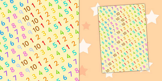 Number Themed A4 Sheet - number, a4, sheet, themed, numbers