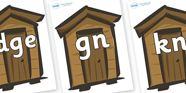 Silent Letters on Sheds - Silent Letters, silent letter, letter blend, consonant, consonants, digraph, trigraph, A-Z letters, literacy, alphabet, letters, alternative sounds