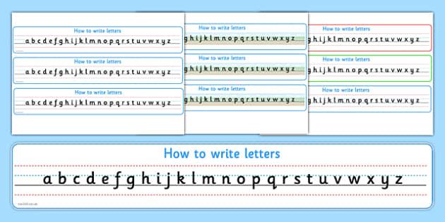 How to Write Letters Alphabet Strips Sassoon - alphabet, strips