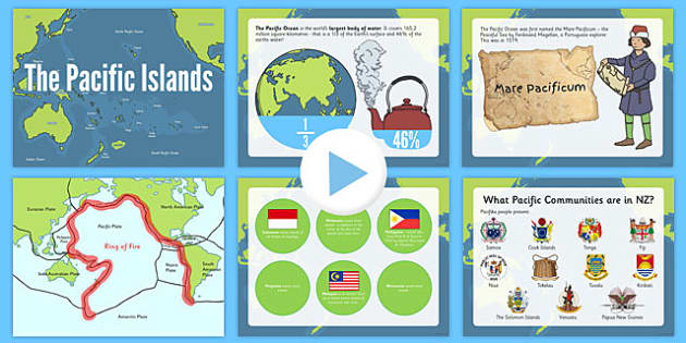 Pacific Islands PowerPoint - nz, new zealand, pacific islands, countries