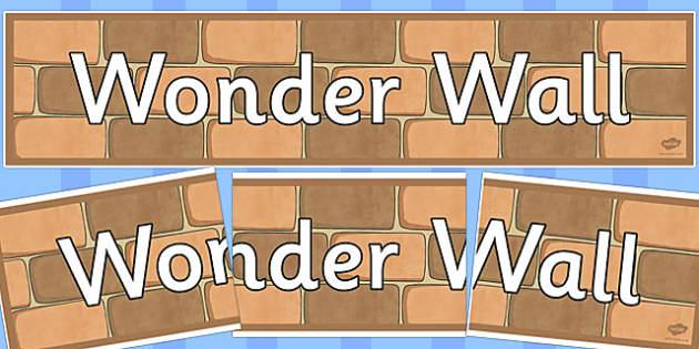 Wonder Wall Display Banner - wonder wall, display banner, display, banner