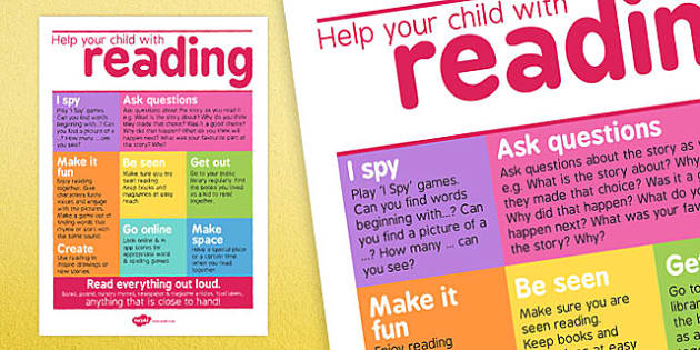 Help Your Child With Reading Poster For Parents - home learning