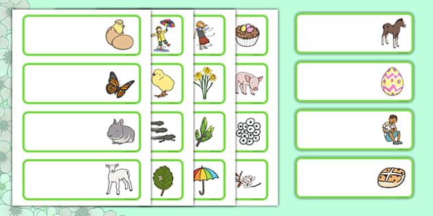 Spring Drawer Peg Name Labels - spring, peg labels, name labels