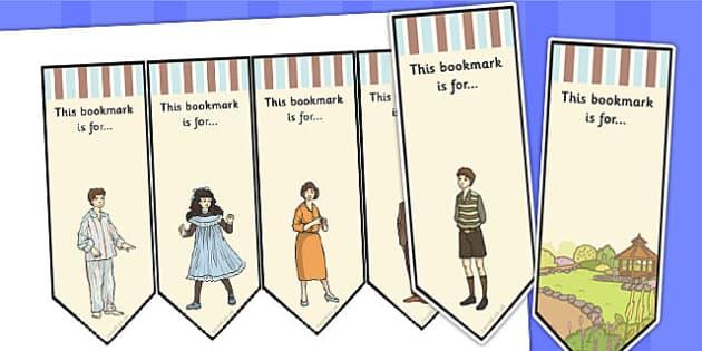 Toms Midnight Garden Bookmarks - bookmarks, tom, midnight, garden