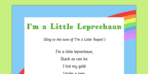 I'm a Little Leprechaun Song - St Patricks Day, leprechaun, eyfs, song