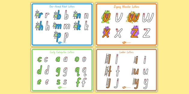 Letter Formation Poster Pack Foundation - australia, letter formation, display poster, display, poster, letter, formation, pack