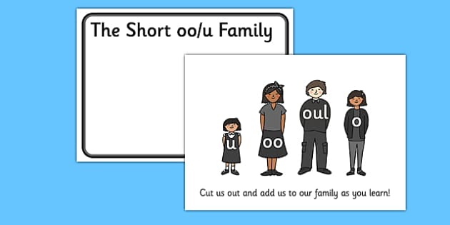 Oo Sound Families Cut Outs - sound families, sounds, cutouts, cut