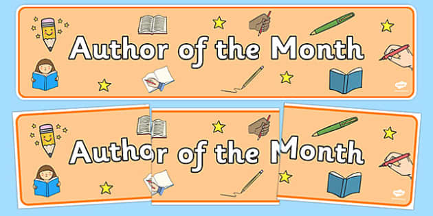 Author of the Month Display Banner - author of the month, display banner, banner, display, banner for display, display header, header for display