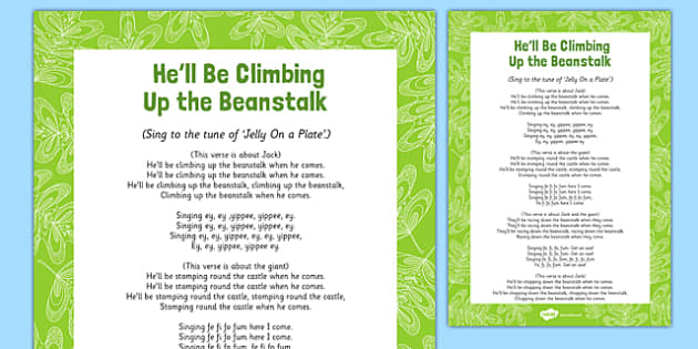 Climbing Up The Beanstalk Song - Jack, Jack and the Beanstalk, beans, nursery rhymes, rhyme