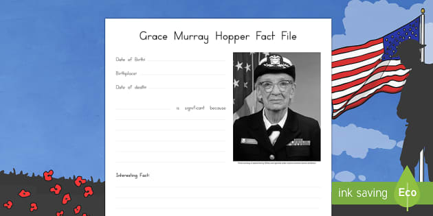 Grace Murray Hopper Significant Individual Writing Frames