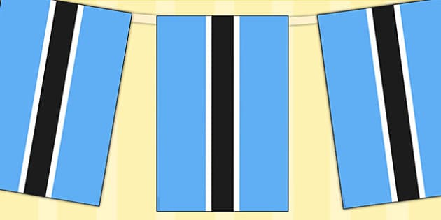 Botswana Flag Display Bunting - commonwealth, display, flags