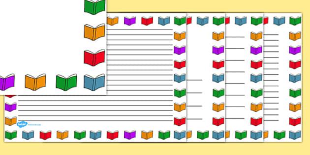 Books Page Borders Landscape - books, page, borders, landscape