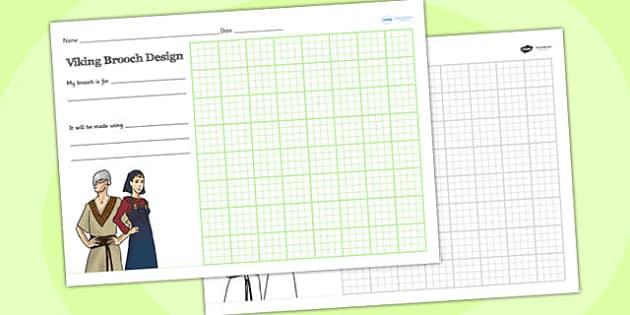 Viking Brooch Design Sheet - viking, jewellry, history, design