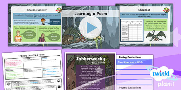 PlanIt Y5 Animals: Jabberwocky Lesson Pack Poetry (3)