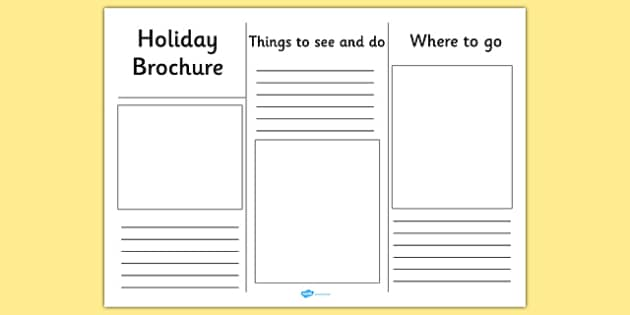travel brochure template for kids - editable holiday brochure template holiday brochure