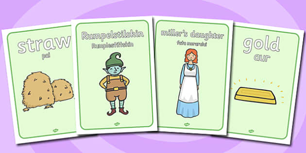 * NEW * Rumpelstiltskin Display Posters Romanian Translation