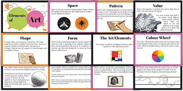 Elements of Art Cards - elements, art, cards, facts cards, facts