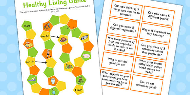 Healthy Living Game EYFS and KS1 - healthy living, game, eyfs, ks1