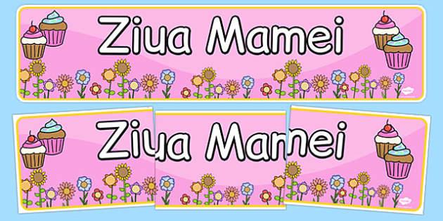 Ziua Mamei - Banner
