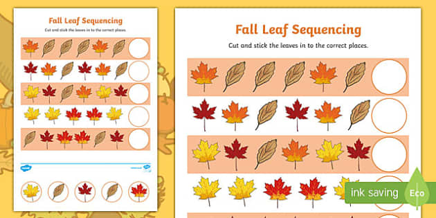 Fall Leaf Sequencing Leaves