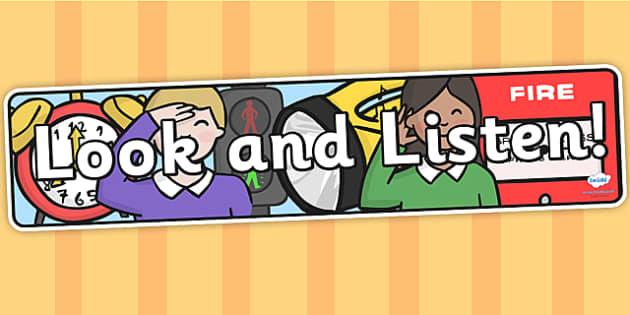 Look and Listen IPC Display Banner - look, listen, IPC, banner